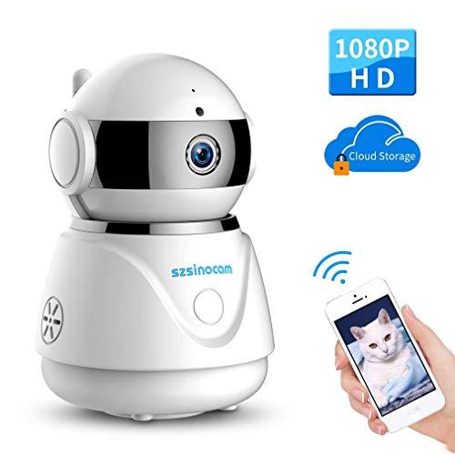Caméra HD WiFi sans Fil 1080P IP Sécurité Caméra de Surveillance étanche  Vision Nocturne Détection de Mouvements pour Extérieur Domicile et Milieu