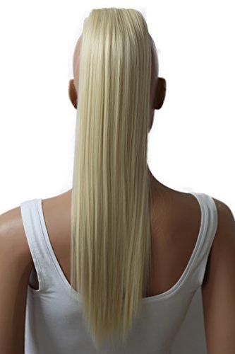 Prettyshop parrucchino parrucca extension coda di cavallo di estensione dei capelli coda di cavallo 50 centimetri o 70 centimetri di calore liscio resistenti vari colori (50cm biondo platino 613 h71)