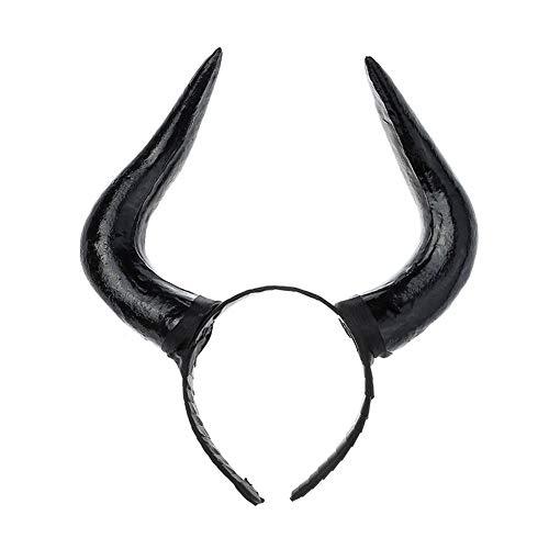 Yazilind Persönlichkeitssimulation Schwarzes Horn Stirnband Stirnband Halloween Easter Party Zubehör