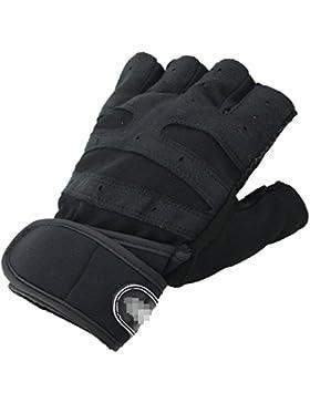 Semi-guantes Equitación Muñeca Fitness Guantes Desgaste Lucha Antideslizante Hombres