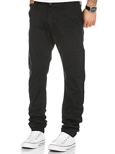 Chino Hose Herren Chinohose Blogger Jeans Denim Herrenhose Stoff Business Basic Schwarz