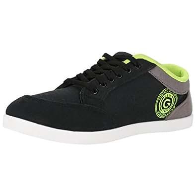 Globalite Men's Stumble Black/Grey/Green Canvas Shoes-Uk 6
