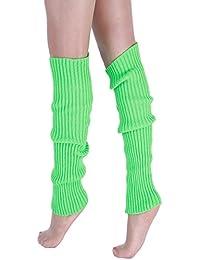 94a1e50621b Vertvie Femme Hiver Guêtres Chaussettes Chaud Collant Jambière Tricoté  Crochet Leggings Neige pour Fête Noël