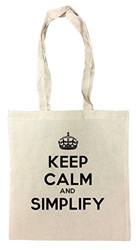 keep-calm-and-simplify-borsa-della-spesa-spiaggia-cotton-riutilizzabile-shopping-bag-beach-reusable