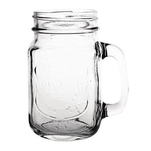 "Olympia cm698behandelt Trinken Jar bedruckt ""Ice Cold Drink"", 450ml, 16oz"