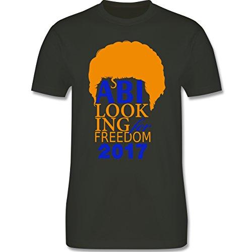 Abi & Abschluss - ABI looking for freedom 2017 - Herren Premium T-Shirt Army Grün