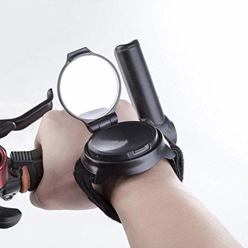 HKFV Fahrrad End Flexible Handgelenk Band Strap Reflex Rückansicht Rearview Rückspiegel Handgelenkspiegel Bicycle Wrist Band Rear View Mirror