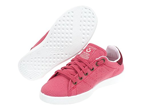 Victoria - Lona tinta framboise - Chaussures basses toile Rose