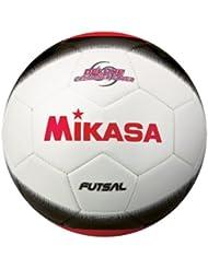 Mikasa Sports White/Black/Red Futsal Adult Size 4 Indoor Soccer Ball FSC450-WBKR