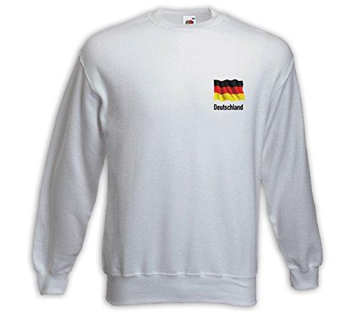 Fussball Pullover Deutschland Fahne weiss WM EM Fanartikel Weiß