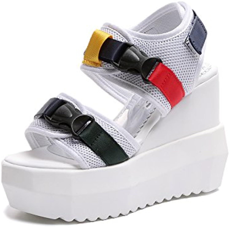 HBDLH Chaussures pour Talons femmes/Mode/L'Été La Pente Des Talons pour  s Les Filles 12Cm Super Talons Hauts Des Muffins...B07DBNGDS1Parent 950d40