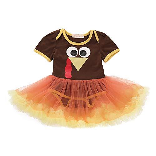 Venmo Infant Kleinkind Baby Mädchen Truthahn Thanksgiving Day Gaze Tutu Kleid Outfits Tuch Geburtstags Kleid Sequin Prinzessin Partykleid Weihnachten Fotoshooting Outfits Kostüm