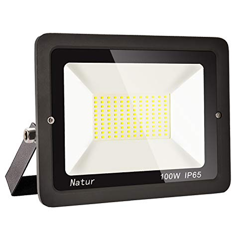 100W LED Foco exterior alto brillo Proyector led exterior de impermeable IP65,Blanco...