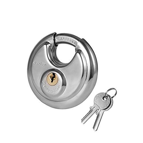 rarlux serratura dp9070Lucchetto rotondo ad arco con catena antifurto schermato, 2?3/4, in acciaio inossidabile