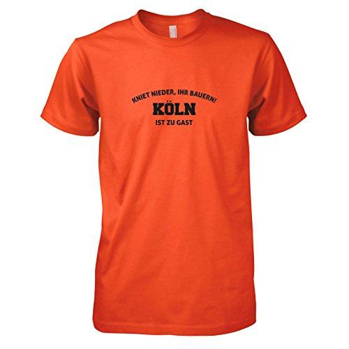 TEXLAB - Kniet nieder Köln - Herren T-Shirt Orange