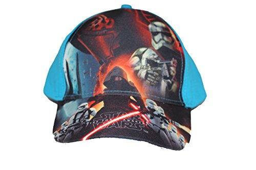 Disney Star Wars Jungen Cap Kappe Schirmmütze (52, Hellblau)