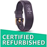 (Renewed) Garmin vivosmart 3 Heart Rate Monitor, Regular (Purple/Rose Gold)