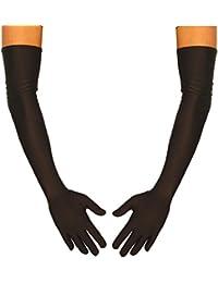 jowiha® Lange Satinhandschuhe in Schwarz Rot oder Weiß Einheitsgröße 53cm