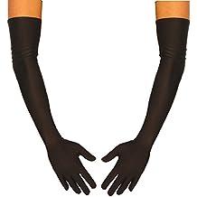 jowiha–® Guantes satén largos en rojo y negro o blanco talla única 53cm