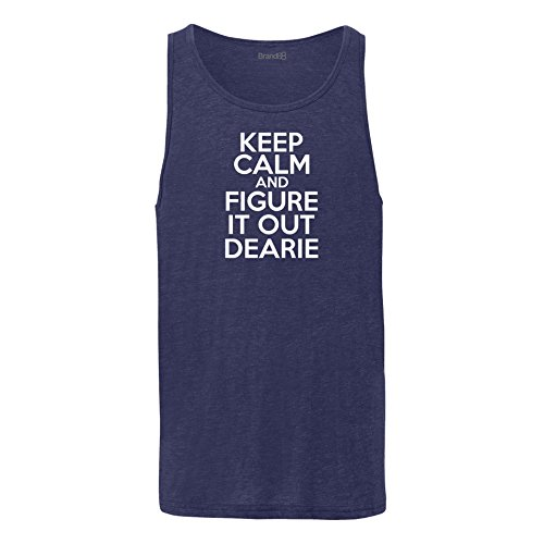 Brand88 - Keep Calm And Figure It Out Dearie, Unisex Jersey Weste Marine Blau