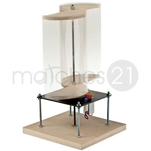 Preisvergleich Produktbild matches21 Windgenerator mit Savonius Rotor erzeugt Windenergie Holz Elektro Bausatz Bastelset mit Bauanleitung