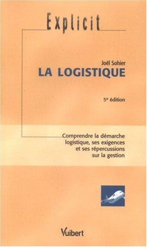 La logistique par Joël Sohier