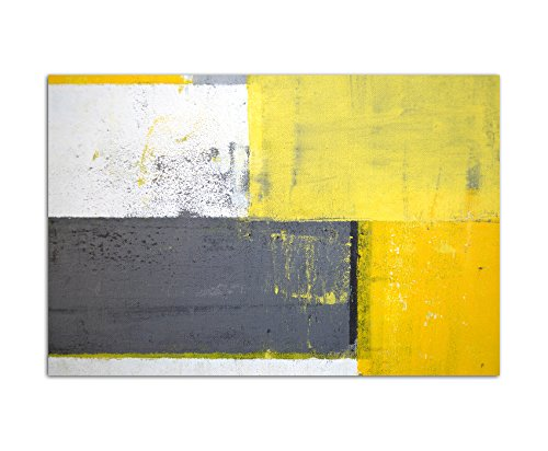 120 x 80 cm greyyellow abstract canvas wall picture malkunst art modern style home decoration pictures