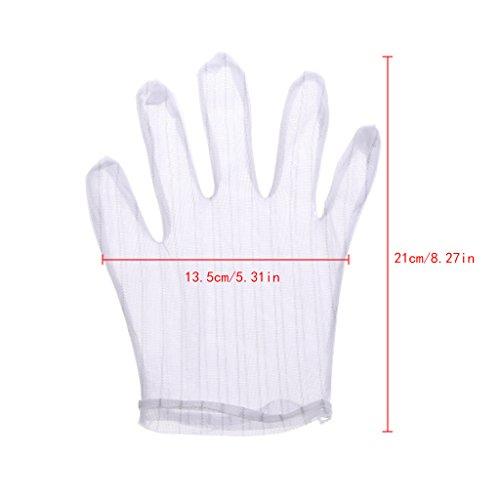 Jiamins 1 Paar Gestreiften Antistatische Anti-Rutsch-Handschuh,Computer Arbeiten Reparatur sichere Handschuhe -