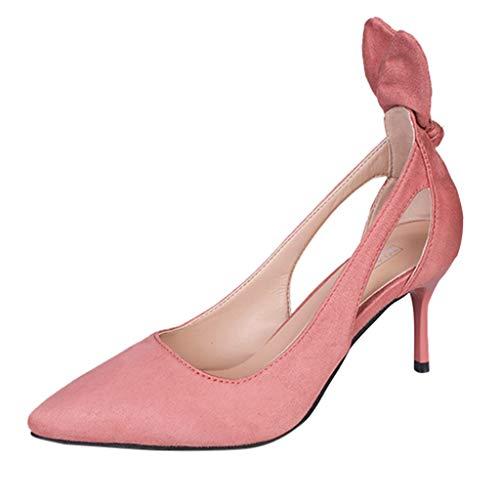 feiXIANG Damen Pumps High Heels Sandals Fashion Shoes Summer Freizeitschuhe Einfarbig Stiletto Sandaletten (Rosa,35) (Boys Kleinkind Sneakers Größe 6)