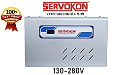 Servokon Sk 413A Digital Voltage Stabilizer For 1.5 Ton Ac(130-280V)(Grey)