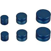 SHINEstyle Orecchini Rotondi Dell'Acciaio Inossidabile Magnetico Di Stile Punk Clip Falso Non Penetrante Sugli Orecchini Della Vite Prigioniera (Blu:6mm-10mm)