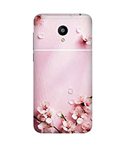Pink Petals Printed Back Cover Case For Meizu M2