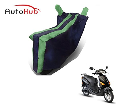 Auto Hub Bike Body Cover For Hero Electric Optima - Black Green  available at amazon for Rs.275