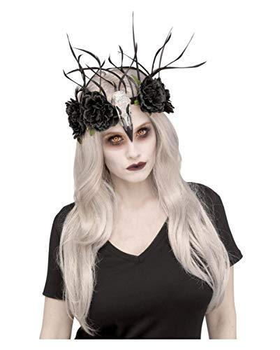 Horror-Shop Voodoo-Kopfschmuck mit Blumen für Halloween Kostüme