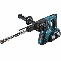 Makita DHR264Z Bohrhammer für SDS-Plus 2x18 V (ohne Akku+Ladegerät), 18 V, Schwarz, Blau