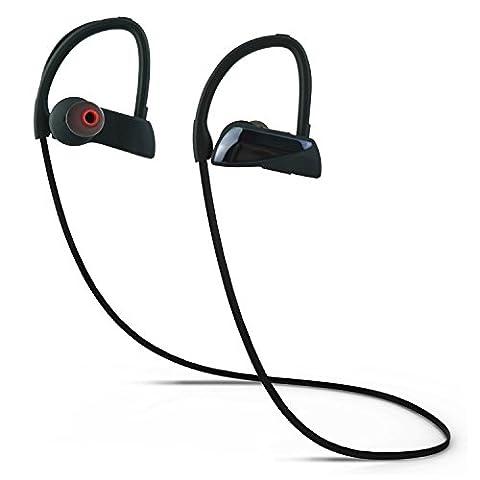 Coio Sport Bluetooth KopfhörerBluetooth-4.1 Schweißfest Bluetooth Kopfhörer HiFi-Stereo-Kopfhörer Noise Cancelling-Kopfhörer für Fitness-Studio, Bewegung, Sport, laufen und Outdoor-Sportarten