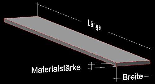 Alu Flachstange Aluminium (4 mm Stärke) AlMgSi0,5 Profil Aluprofil Flach Alu Stange Flachmaterial (Breite: 30 mm / Länge: 100 cm)