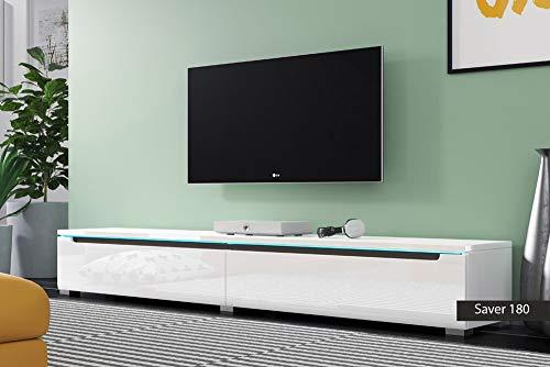 Porta tv originali saver 180 cm 180x26.1x33 (bianco lucido)