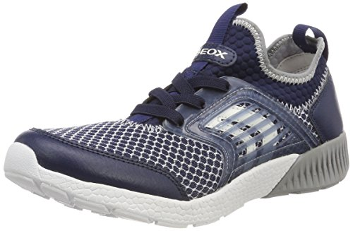 Geox Jungen J Sveth A Low-Top Sneaker, Blau (Navy/Grey), 32 EU