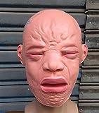 JINFAN Halloween-Maske, Halloween-Vollkopfmasken-Geist-Baby-Masken-Kappen-Geisterhaus-Stangen-Wandschrank-weinendes Gesicht,Pink