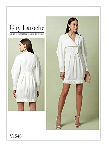 Vogue Damen Schnittmuster 1548Prinzessin Saum Kleid mit abnehmbarer Overlay