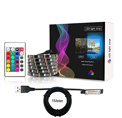 SIMGULAM USB-LED-Streifenlicht-Kit 9.84ft / 3M, SMD5050 RGB Dream Farbwechselstreifen TV-Hintergrundbeleuchtung, Flexibler Bandstrang für 50 '' 60 '' HDT -