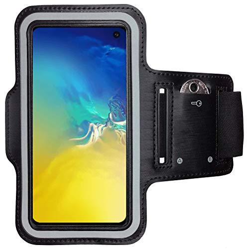 CoverKingz Armtasche für Samsung Galaxy S10e Sportarmband mit Schlüsselfach, Laufarmband, Sport Handyhülle, Handy Armband Schwarz