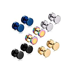 5 pares Barbell Stud...