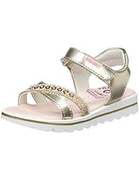 Zapatos dorados de punta abierta formales Oca-Loca infantiles