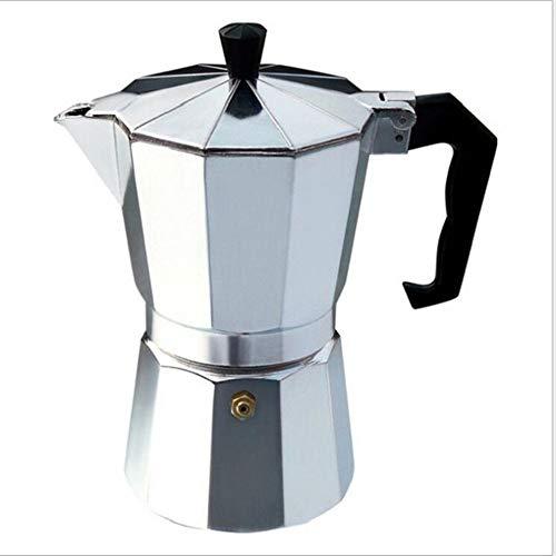 BAIYA Cafetera Clásica Reutilizable con Mango Anti Escaldado (50-600ML) Plateada