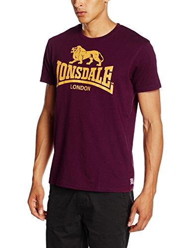 Lonsdale London Herren T Shirt Trägerhemd Logo, Blutrot, M, 119083_2