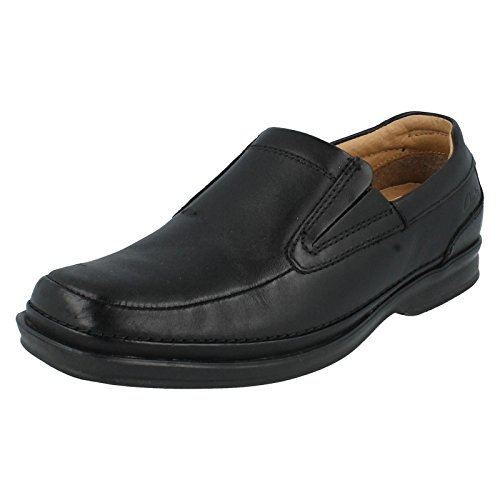 Formale Da Uomo Clarks Slip On scarpe Scopic Step, nero (Black), 44