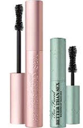 Too Faced Better Than Sex Mascara/Wimperntusche Duo Regular Full Size and Travel Sized Waterproof Set Sexy Lashes Rain or Shine Lash Mascara Duo