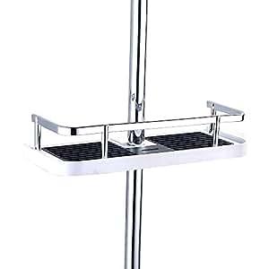 fontic abs kunststoff duschablage badezimmerablage dusche rack korb ohne bohren zu montieren. Black Bedroom Furniture Sets. Home Design Ideas